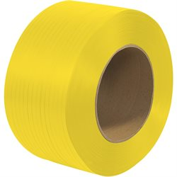 "1/2"" x 9000' - 9 x 8"" Core Machine Grade Polypropylene Strapping - Embossed"