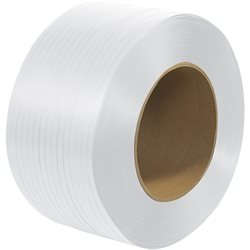 "3/8"" x 12900' - 9 x 8"" Core Machine Grade Polypropylene Strapping - Embossed"
