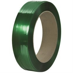 "1/2"" x 9000' - 16 x 6"" Core Signode® Comparable Polyester Strapping - Smooth"