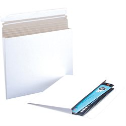 "10 x 7 3/4 x 1"" White Gusseted Flat Mailers"