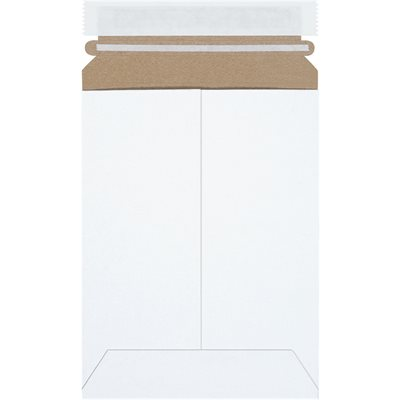 """6 x 8"""" White (25 Pack) Self-Seal Flat Mailers"""