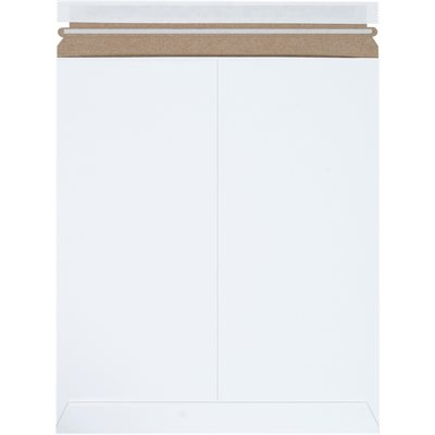 """12 3/4 x 15"""" White (25 Pack) Self-Seal Flat Mailers"""
