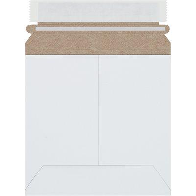 "6 x 6"" White Self-Seal Flat Mailers"