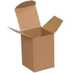 "1 1/2 x 1 1/4 x 2"" Kraft Reverse Tuck Folding Cartons"