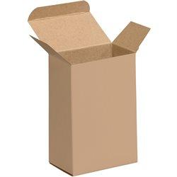 "4 x 2 1/2 x 6"" Kraft Reverse Tuck Folding Cartons"