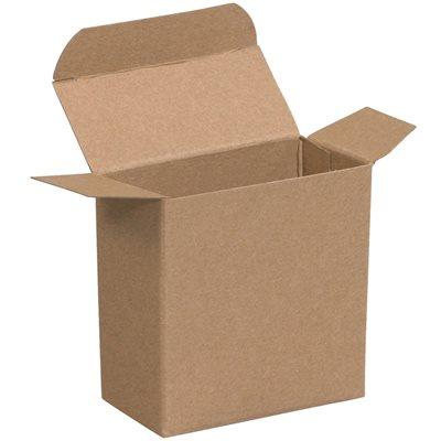 "1 15/16 x 5/8 x 1 15/16"" Kraft Reverse Tuck Folding Cartons"