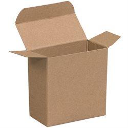 "2 1/4 x 3/4 x 2 1/4"" Kraft Reverse Tuck Folding Cartons"
