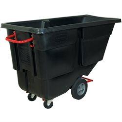 Rubbermaid® 1 Cubic Yard - Black Utility Grade Tilt Truck