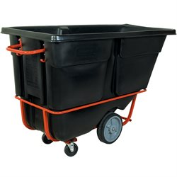 Rubbermaid® 1 Cubic Yard - Black Heavy-Duty Tilt Truck
