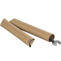 "1 1/2 x 12"" Kraft Crimped End Tubes"