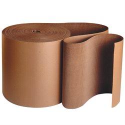 "48"" x 250' - 'B' Flute Kraft Singleface Corrugated Roll"