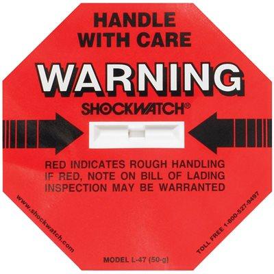 50G ShockWatch® Indicators