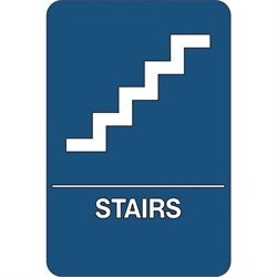 """Stairs"" ADA Compliant Plastic Sign"