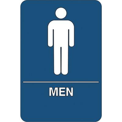 """Men Restroom"" ADA Compliant Plastic Sign"