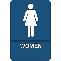 """Women Restroom"" ADA Compliant Plastic Sign"
