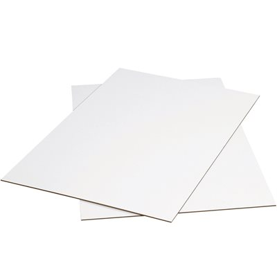 "48 x 48"" White Corrugated Sheets"