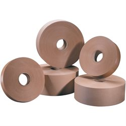 "1"" x 500' Kraft Tape Logic® #5000 Non Reinforced Water Activated Tape"
