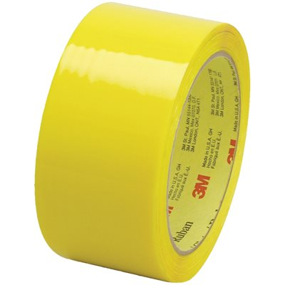 """2"""" x 55 yds. Yellow (6 Pack) 3M 373 Carton Sealing Tape"""
