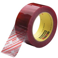 "2"" x 110 yds. Clear 3M 3779 Pre-Printed Carton Sealing Tape"