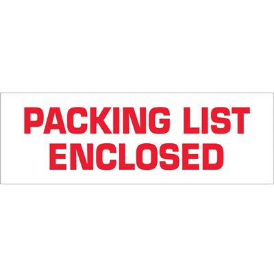 """2"""" x 110 yds. - """"Packing List Enclosed"""" (18 Pack) Pre-Printed Carton Sealing Tape"""