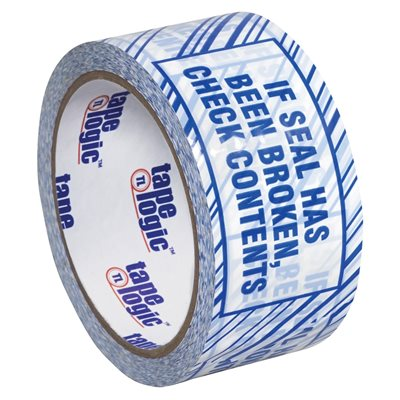 """2"""" x 110 yds. """"If Seal Has Been..."""" Print (6 Pack) Tape Logic® Security Tape"""