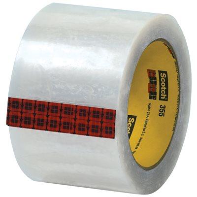 "3"" x 55 yds. Clear (6 Pack) 3M 355 Carton Sealing Tape"