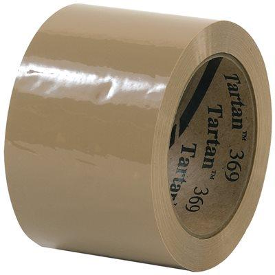 """3"""" x 110 yds. Tan 3M 369 Carton Sealing Tape"""
