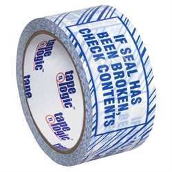 """3"""" x 110 yds. """"If Seal Has Been..."""" Print (6 Pack) Tape Logic® Security Tape"""