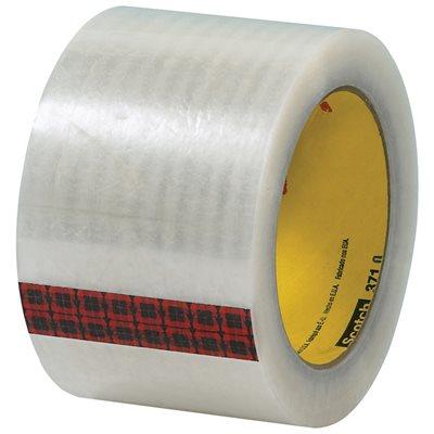 "3"" x 55 yds. Clear 3M 371 Carton Sealing Tape"