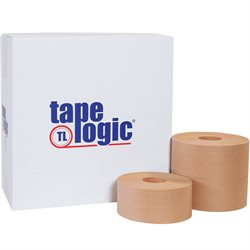 "3"" x 375' Kraft Tape Logic® #7500 Reinforced Water Activated Tape"