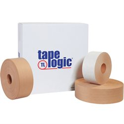 "3"" x 450' White Tape Logic® #7500 Reinforced Water Activated Tape"