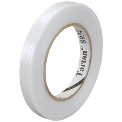 """3/8"""" x 60 yds. 3M 8934 Strapping Tape"""