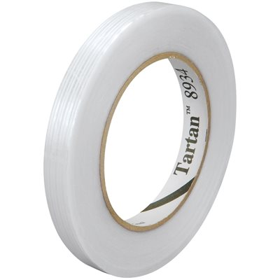 """1/2"""" x 60 yds. (12 Pack) 3M 8934 Strapping Tape"""