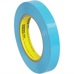 "3/4"" x 60 yds. (12 Pack) 3M 8898 Poly Strapping Tape"
