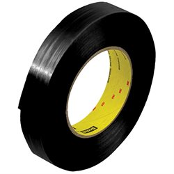 """1"""" x 60 yds. (12 Pack) 3M 890MSRB Black Strapping Tape"""