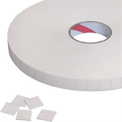 "1 x 1"" Tape Logic® 1/32"" Removable Double Sided Foam Squares"