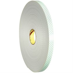 "1"" x 36 yds. 3M 4008 Double Sided Foam Tape"