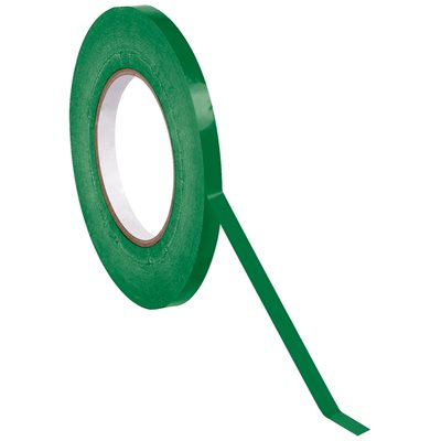 "3/8"" x 180 yds. Dark Green (16 Pack) Bag Tape"