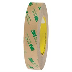 """1"""" x 60 yds. (6 Pack) 3M 467MP Adhesive Transfer Tape Hand Rolls"""