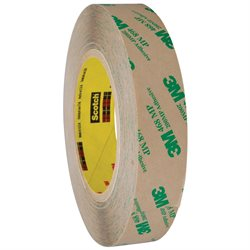 """1"""" x 60 yds. (6 Pack) 3M 468MP Adhesive Transfer Tape Hand Rolls"""
