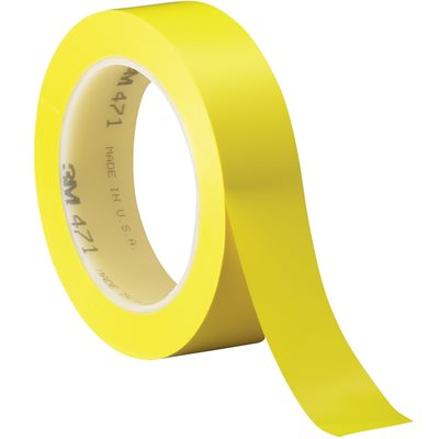 "1"" x 36 yds. Yellow 3M 471 Vinyl Tape"