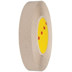 """1"""" x 60 yds. (6 Pack) 3M 9627 Adhesive Transfer Tape Hand Rolls"""