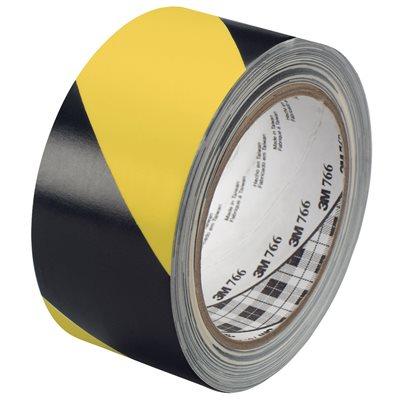 "2"" x 36 yds. Black/Yellow (2 Pack) 3M 766 Striped Vinyl Tape"
