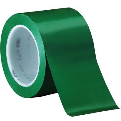 """3"""" x 36 yds. Green (3 Pack) 3M 471 Vinyl Tape"""
