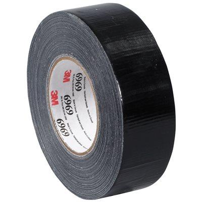 "2"" x 60 yds. Black (3 Pack) 3M 6969 Duct Tape"