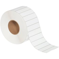 "4 x 1"" White Thermal Transfer Labels"