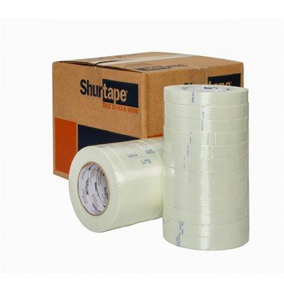 "Shurtape GS501 3/4"" x 60 Clear Filament Tape 48 RL/CS"
