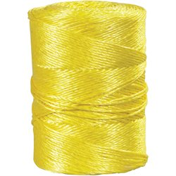 "3/16"", 650 lb, Yellow Twisted Polypropylene Rope"