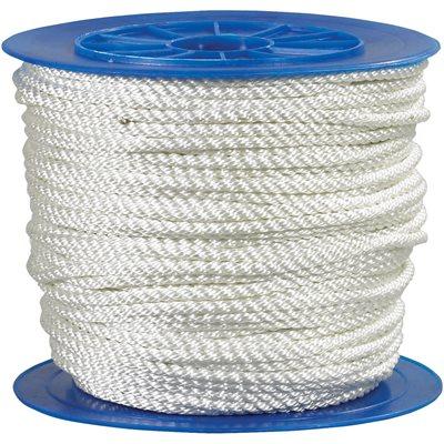 "1/2"", 5,670 lb, White Twisted Nylon Rope"