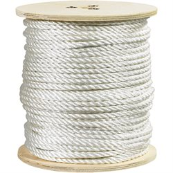 """3/8"""", 2,900 lb, White Twisted Polyester Rope"""